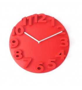 Nowoczesny zegar ścienny 3D YG35 czerwony