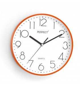 Klasyczny zegar ścienny 5814 pomarańczowy