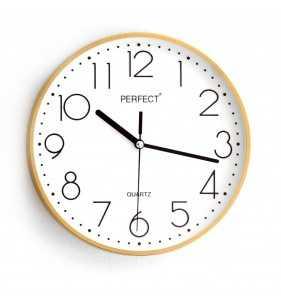 Klasyczny zegar ścienny 5814 złoty