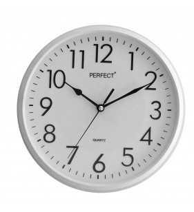Klasyczny zegar ścienny 5742 biały
