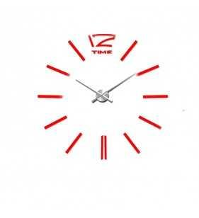 Nowoczesny zegar ścienny czerwony