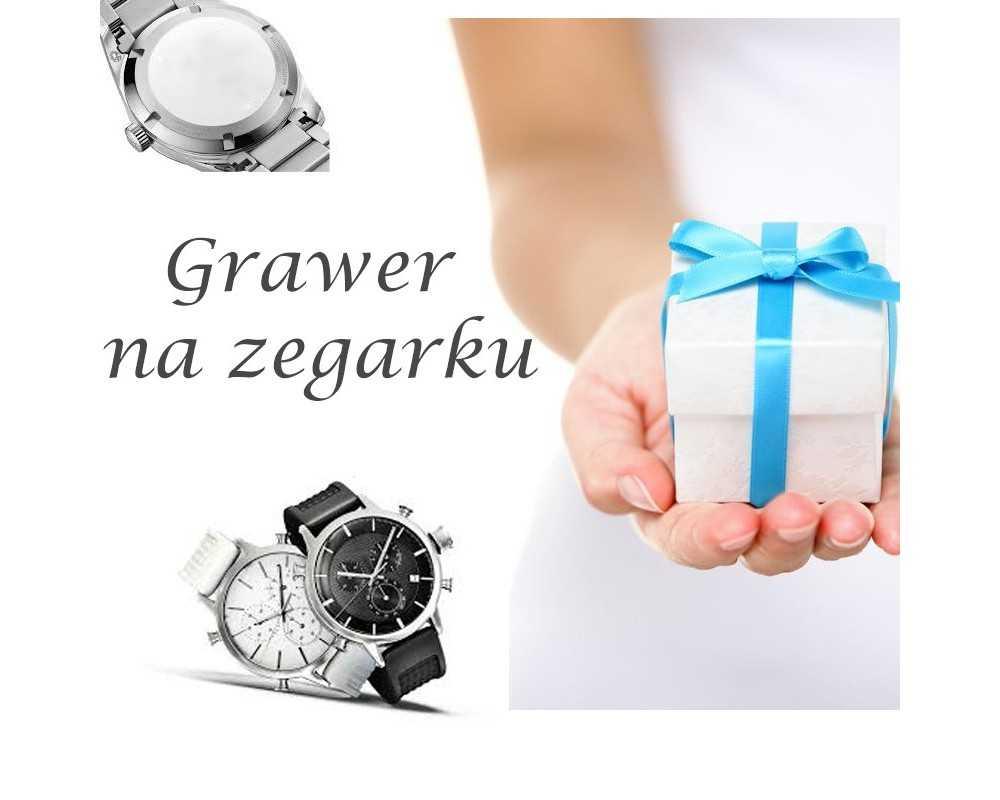 Usługa grawerowania na zegarku GRAWER na prezent