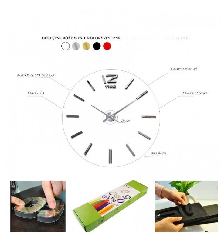 wymiary zegara DIY