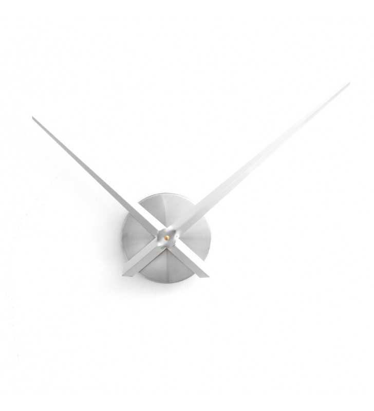 Duży zegar ścienny 3D DIY XXL12S srebrny