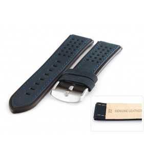 Skórzany pask  PACIFIC W80.05.01Z niebiesko czarny
