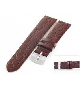 Pasek skórzany do zegarka HORIDO 117.02 brązowy