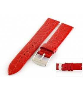 Pasek skórzany do zegarka HORIDO 117.06 czerwony
