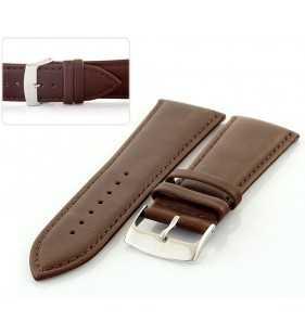 Pasek skórzany do zegarka gładki HORIDO 188.02 brązowy