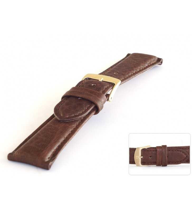 Pasek skórzany do zegarka wielbłąd HORIDO 018.02 brązowy
