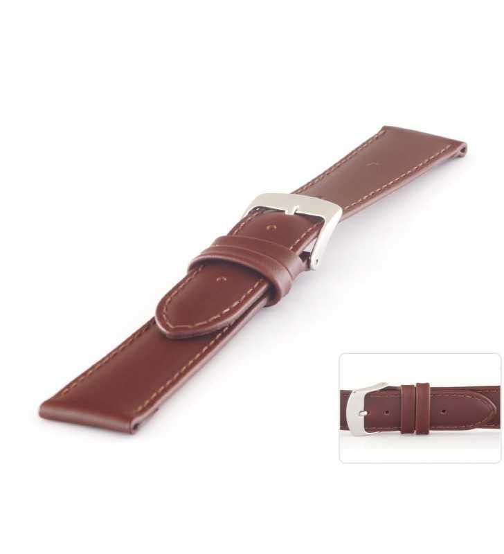 Pasek skórzany do zegarka  klasyczny HORIDO 078.02 brązowy